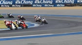 cornering : BURIRAM - DECEMBER 4 : Racer of Super Sport 600cc. in Asia Road Racing Championship 2016 Round 6 at Chang International Racing Circuit on December 4, 2016, Buriram, Thailand.