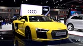 kupé : BANGKOK - MARCH 27 : Audi R8 Coupe car on display at Bangkok International Motor Show 2018 on March 27, 2018 in Bangkok, Thailand.