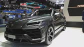 NONTHABURI - 28. NOVEMBER: Super-SUV-Auto Lamborghinis URUS auf Anzeige an der 35. internationalen Bewegungsausstellung Thailands am 28. November 2018 in Nonthaburi, Thailand.