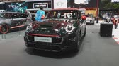 kupé : NONTHABURI - NOVEMBER 28: Mini John Cooper Works car on display at The 35th Thailand International Motor Expo on November 28, 2018 in Nonthaburi, Thailand.