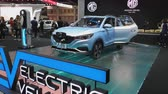 NONTHABURI - MARCH 26: MG ZS Pure Electric car on display at The 40th Bangkok International Thailand Motor Show 2019 on March 26, 2019 Nonthaburi, Thailand.