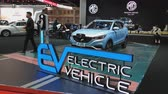 series : NONTHABURI - MARCH 26: MG ZS Pure Electric car on display at The 40th Bangkok International Thailand Motor Show 2019 on March 26, 2019 Nonthaburi, Thailand.