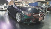 NONTHABURI - MARCH 26: Mercedes-Benz Cabriolet car on display at The 40th Bangkok International Thailand Motor Show 2019 on March 26, 2019 Nonthaburi, Thailand. Stock Footage