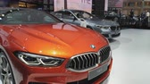 kupé : NONTHABURI - MARCH 26: BMW The 8 car on display at The 40th Bangkok International Thailand Motor Show 2019 on March 26, 2019 Nonthaburi, Thailand.