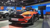 kupé : NONTHABURI - MARCH 26: Ford Mustang car on display at The 40th Bangkok International Thailand Motor Show 2019 on March 26, 2019 Nonthaburi, Thailand.