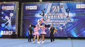 BANGKOK - DECEMBER 11: Group of cheerleaders in during 21th Cheerleading Thailand Championships 2016 at Fashion Island Hall on December 11, 2016 in Bangkok, Thailand.