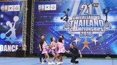 nadšení : BANGKOK - DECEMBER 11: Slow motion of cheerleaders in during 21th Cheerleading Thailand Championships 2016 at Fashion Island Hall on December 11, 2016 in Bangkok, Thailand. Dostupné videozáznamy