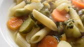 Hot minestrone with pasta