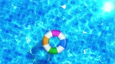 tile : Swimming pool top view, CG animation, Pool float, Stock Footage