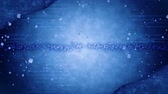 quimono : Blue Glitter Background with Traditional Japanese Loop Patterns Stock Footage