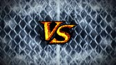 битва : CG Animation, Loop, versus Fight on Metal Background, VS on Spark Fire