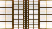 yarı saydam : Japanese Style Shoji Door, Sliding Door Loop Animation,