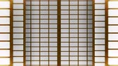 průsvitný : Japanese Style Shoji Door, Sliding Door Loop Animation,