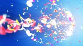 спиннинг : Colorful petals. Spiral shiny petals of blossoms. Flower pattern. Pretty dancing petal. Vortex from spin petals. Abstract loop animation.