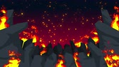 pecado : Evil abstract animation, Apocalyptic hell background, Fire flames on spooky wilderness,