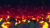 комиксы : Evil abstract animation, Apocalyptic hell background, Fire flames on spooky wilderness,