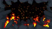komiks : Evil abstract animation, Apocalyptic hell background, Fire flames on spooky wilderness,