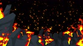 sin : Evil abstract animation, Apocalyptic hell background, Fire flames on spooky wilderness,