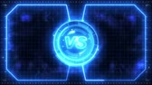 Futuristic sports game loop animation. Versus fight background. Radar neon digital display. X target mark. Game control interface element. Battle fight sports competition.
