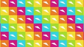 avión de papel : Handmade paper plane collection. Loop animation of flowing white paper plane on colorful background. Business connection concept. Origami Airplane Flying.