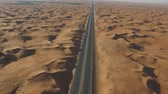 Desert highway from the bird-eye view
