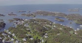 seascape houses on fjord coasts against sea on sunny day Dostupné videozáznamy