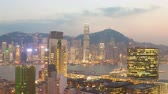 colorful : 4k timelapse video of Hong Kong from day to night