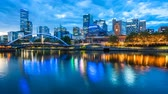 river : 4k timelapse video of Melbourne from sunset to night Stock Footage