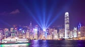 4k vidéo timelapse de Symphony of Light à Hong Kong, le zoom