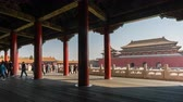 forbidden : Beijing, China - Mar 16, 2018: 4k timelapse video of Forbidden City in Beijing