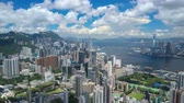 4k aerial hyperlapse video of Victoria Harbour in Hong Kong Vidéos Libres De Droits