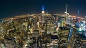 4k timelapse video of New York City at night