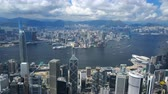 4k Luftvideo von Victoria Harbour in Hong Kong Stock Footage