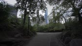 jib : New York, USA - May 20, 2018: 4k video of Central Park in New York Stock Footage