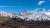 Патагония : 4k timelapse video of Monte Fitz Roy at Los Glaciares National Park in Argentina