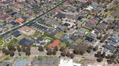 4k aerial video of houses in a suburb in Melbourne, Australia
