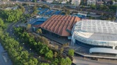 маргарита : Melbourne, Australia - Nov 10, 2018: 4k aerial video of Rod Laver Arena, Margaret Court Arena and other tennis courts for hosting the Australian Open