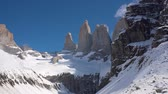 Патагония : Granite towers at Mirador Las Torres in Torres del Paine national park of Chile