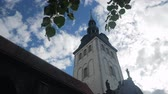 med : bell tower of the church of niguliste (nicholas) in Tallinn, Estonia