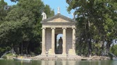 article : Villa Borghese, Rome, city park with Aesculapius temple and pond
