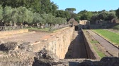 article : Handrians Villa, Rome, archeological site of Antinoeion Stock Footage
