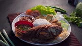 snapper : traditional malay dish with deep fried snapper fish