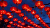 lampionnen : Chinese lanterns during new year festival footage Stockvideo
