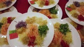 Yee Sang, a Chinese new year celebration dish