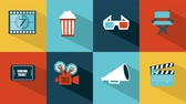 piktogramm : Cinema icons Animation HD 1080