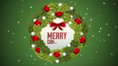 coroa : Green merry christmas, Video Animation, HD 1080 Stock Footage