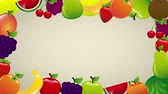 вегетарианец : fruits colors Video animation, HD 1080