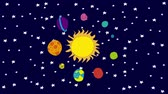 dados : Solar system cartoon, Video animation, HD 1080