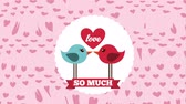 imagem colorida : Love card design, Video Animation HD1080