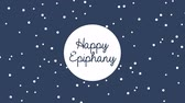 cartão postal : Happy epiphany design, Video Animation HD1080 Vídeos